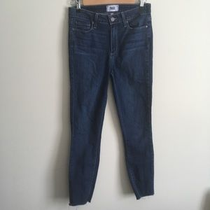 Paige | Hoxton Ankle Jeans with Frayed Hem 28